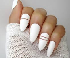 white matte stiletto nails almond nails fake nails press on