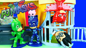 pj masks toys unboxing hit disney jr cartoon tv show