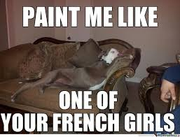 Pitbull Puppy Meme - paint me like a real model what breed is it
