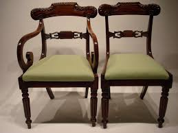 William Iv Dining Chairs Set Of 8 19c Mahogany Dining Chairs Antique Dining Chairs