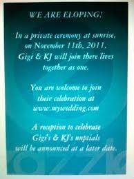 elopement invitations elopement announcements tacky or weddingbee elopement