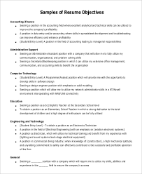 general resume objective sle general objective for resume 7 exles in pdf
