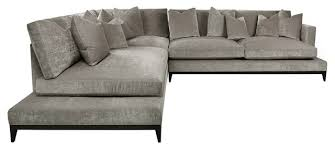 Contemporary Sectional With Chaise Evan Transitional L Sectional With Bumper Chaise Velvet