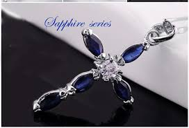 sapphire necklace price images 1 carat cross sapphire pendant necklace on sale at cheap price for jpg