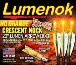 20 crossbow bolts with lighted nocks burt coyote lumenok 20 crossbow bolts w hd orange half moon lighted