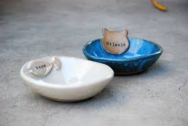 personalized bowl personalized cat bowl cat lover gift named pet bowl ceramic pet