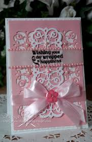 Card Making Magic - flowers ribbons and pearls tuesday tutorial mary border strip