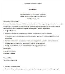 Restaurant Hostess Resume Examples by Hostess Resume Template 9 Free Word Pdf Documents Download