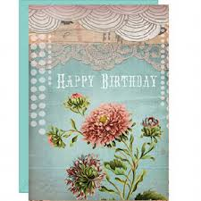 papaya art birthday lace blank greeting card buy papaya art