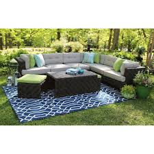 Curved Wicker Patio Furniture - sunbrella fabric patio conversation sets outdoor lounge
