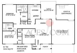 bradford floor plan h784 bradford floorplan 1414 sq ft sun city west 55places com
