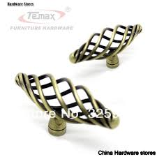 China Cabinet Hardware Pulls Antique Satin Nickel Bronze Birdcage Furniture Hardware Cabinet