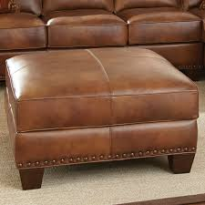 Thomasville Benjamin Leather Sofa by Steve Silver Furniture Silverado Ottoman Home Living Room