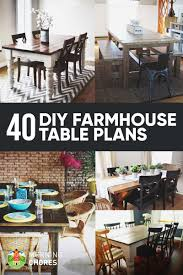 Free Plans For Round Wood Picnic Table by 40 Diy Farmhouse Table Plans U0026 Ideas For Your Dining Room Free