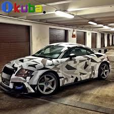 car wrapped in wrapping paper black white camo vinyl car wrap roll pvc styling glue stickers
