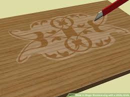wood carving images how to begin woodcarving with a utility knife 9 steps