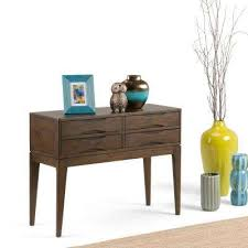 Turquoise Console Table Simpli Home Console Table The Home Depot