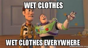 Clothes Meme - wet clothes wet clothes everywhere buzz and woody toy story meme