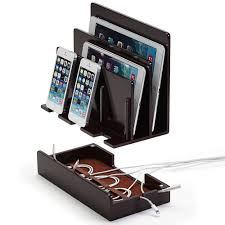 100 bamboo wood multi device charging station phone stand and
