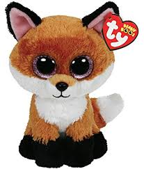 amazon ty beanie boos 6 slick brown fox plush toys u0026 games