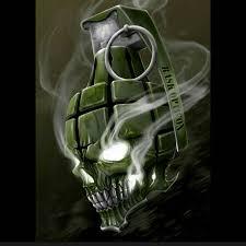 a sick grenade skull digital art skull grenade tattoo