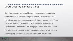prepaid cards with direct deposit use prepaid cards to simplify your payroll