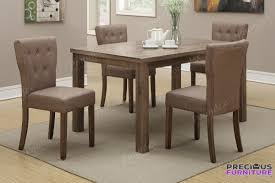f1382 slate faux leather tufted dining chair set of 2