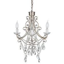 Plug In Crystal Chandelier Madeleine Vintage Silver Crystal Plug In Chandelier Amalfi Decor