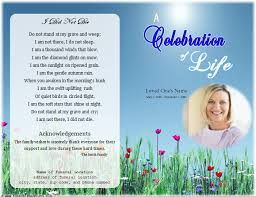 free sle funeral programs templates loading memorial celebration of ideas