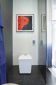 2016 kips bay show house home tour kohler ideas numi intelligent toilet nero marquina tile the intelligent toilet automatically opens as you approach