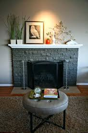 painted stone fireplace photos white stacked fireplaces paint gray