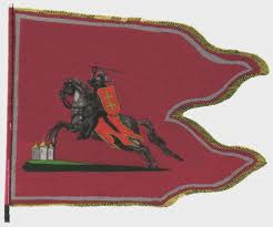 Flag Of Lithuania Picture File Pahonia пагоня Grand Duchy Of Lithuania Military Flag