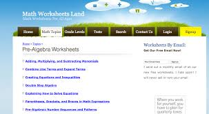 free printable pre algebra worksheets with answers worksheets