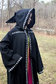 druidic robes black hooded robe celtic druid robe sca larp