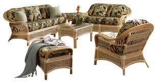 islander 6 piece living room furniture set in natural fern