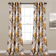 Yellow And Gray Window Curtains Floral Paisley Window Curtain Set Lush Decor Www Lushdecor