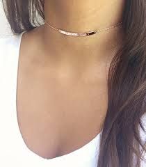 personalized memorial necklace personalized gold choker necklace numerals bar choker
