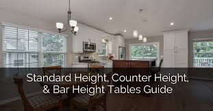 what is the standard height of a kitchen wall cabinet standard height counter height and bar height tables guide