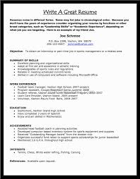 Athletic Resume Template Free Make Me A Resume Free Resume Template And Professional Resume