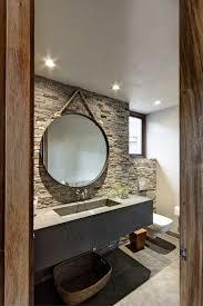 Wohnzimmer Natursteinwand Natursteinwand Im Bad Beton Waschbecken Badezimmer Pinterest