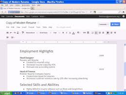 Google Jobs Resume Upload by Creating A Resume In Google Docs Youtube