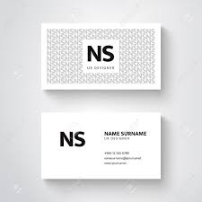 Biz Card Template Vector Simple Business Card Template Clean Design Royalty Free