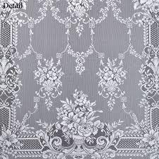 excellent heavy lace curtain panels panel curtains white cotton