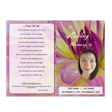 Funeral Ceremony Program Floral 7 Funeral Pamphlets