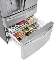 lg bottom freezer french door refrigerator lg door in door 29 9 cu ft 4 door french door refrigerator