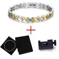 magnetic bracelet with germanium images Fashionable magnetic and germanium therapy bracelet for women jpg