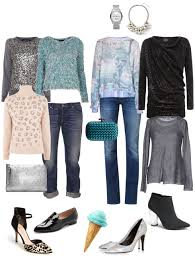 party ensemble jeans and festive sweater ylf