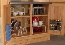 Stackable Kitchen Cabinet Organizer Kitchen Cabinet Organizer Ebay