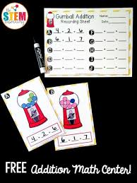 gumball write and wipe addition cards the stem laboratory