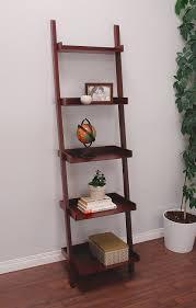 Narrow Leaning Bookcase by Amazon Com Kiera Grace Hadfield 5 Tier Leaning Wall Shelf 18 By